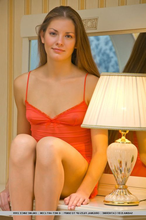 Girl next door Sabina B revealing flat chest and hairy snatch in barefeet