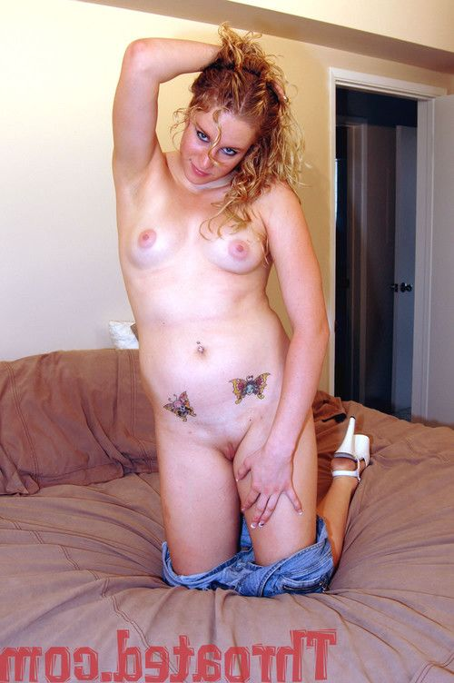 Cute cassidy showing off her tats and shaved pussy