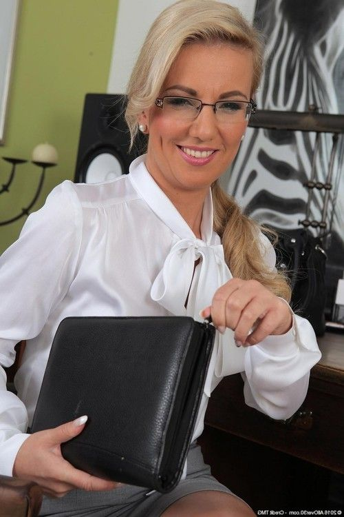 Naughty office milf stripping