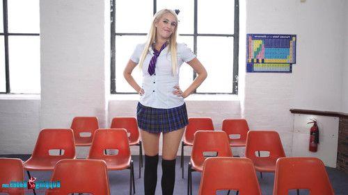 Leggy blonde college student chanelle