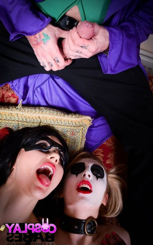 The joker cosplay threesome with jessica jensen and tina kay