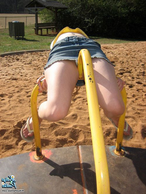 Kitty shares her upskirt pics from the playground