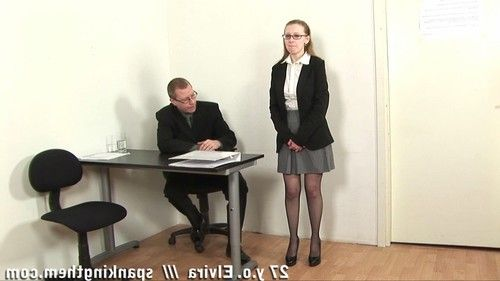 Boss paddles and slaps a bigtitted secretary