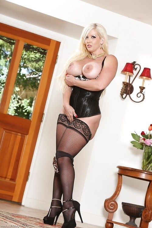 European blonde Alura Jenson is stroking her nice tight snatch