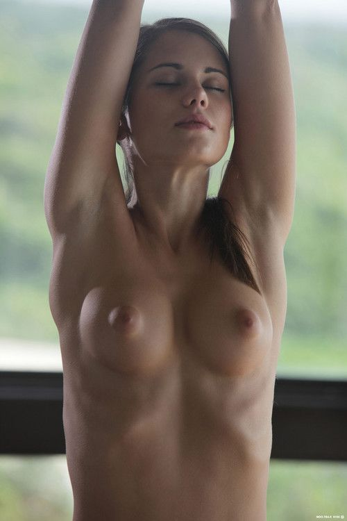 Sexy babe caprice does naked yoga in nude art
