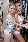 Cute Euro pornstars Fania and Illina Valentine stack bares asses for big dick