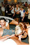 Stupendous chicks are into drunk sex orgy with malestrippers at the party