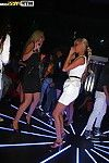 Pretty amateur teen blonde having fun with her friends at the party