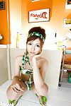Loveable asian teen with hairy muff Kotone Aisaki gets rid of her bikini