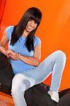 Latina jessie marie spreads legs displaying tiny twat