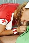 Sexy nurse Roxie is taking part in a hot threesome with a doctor