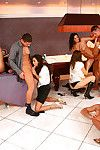 European lassies with hot bodies enjoy a wild orgy with well-hung guys
