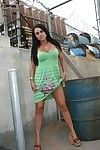 MILF Mariah Milano stripping to expose her big ass in public