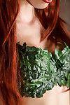 Redhead babe Aidra Fox revealing big natural teen pornstar boobs