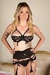 Tall busty blonde in sexy lingerie