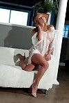 Hot meet madden shows off in sheer see through nightie