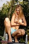 Naked teen body outdoors
