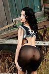 Gorgeous brunette amateur exhibitionist nicole flashing in a pub