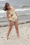 Bathing beauty amateur at the beach
