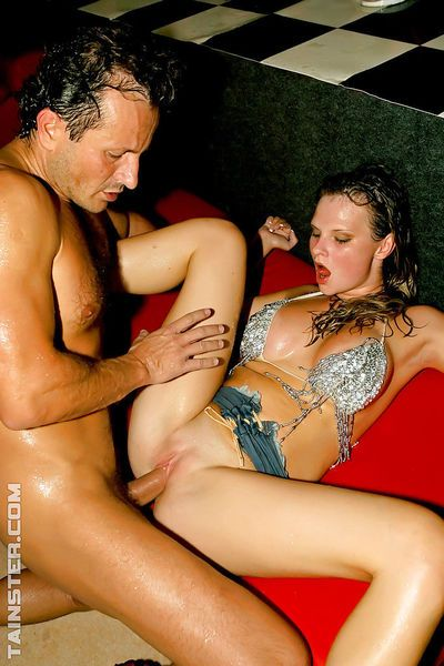 Dirty bitches have some wet cock sucking and fucking fun at the drunk party