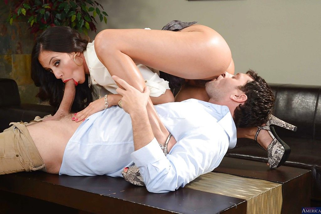 Busty brunette Ariella Ferrera is playing with her new cocky friend - part 2