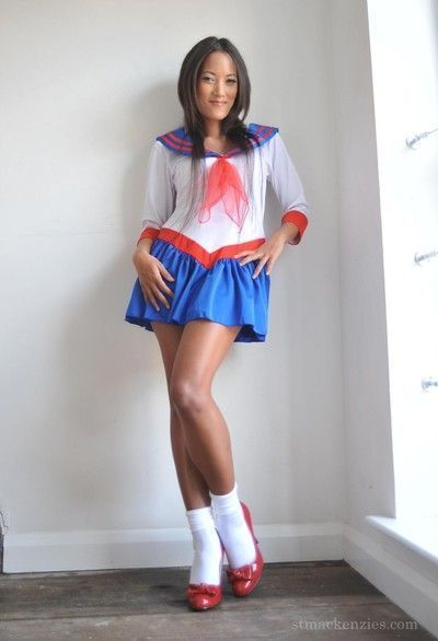 Tiny asian schoolgirl
