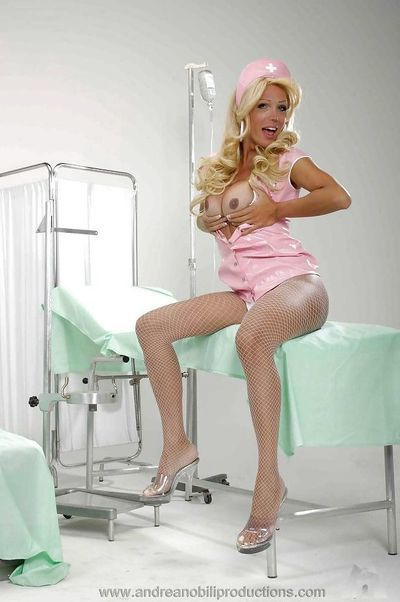 Spectacular trannie nurses in white stockings having having benefit from in the hospital