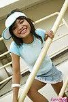 Thai cutie upskirt action outdoors and she has no panties