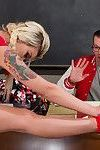 Ts babe bribes her tutor with her fat cock!