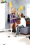 Amateur cheerleader Lia Lor has her mouth fucked hard with a big cock