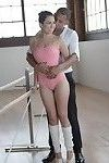 Delicious brunette ballerina Melissa gets rammed with a big black cock