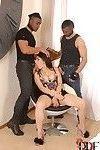 Busty Italian beauty Valentina Nappi taking hardcore DP in MMF threesome