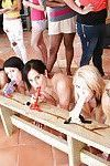 Stunning lesbian bitches are riding on their big sex toys