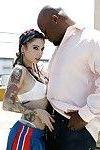 Great milf beauty with sexy tattoos Joanna Angel sucking hard cock