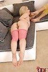 Leggy moms Denise & Nesty sucking sock adorned toes and barefeet in 3some