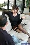 Asian mature Ava Devine fucking in stockings and gauzy underwear