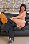 Sexy mommy roxanne tickles her throbbing clit
