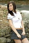 Destiny moody takes you outdoors to remove her school uniform and reveal her big
