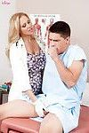 Hardcore uniform ass fucking starts with pussy lick for milf Julia Ann