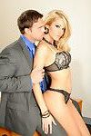 Affy MILF in lacy lingerie Jessica Drake gets fucked in the office