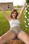Natural tit amateur babe Natlie Austin exposing her big boobs outdoors
