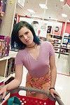 Slutty amateur teen Skylar Anke getting really freaky in a toy store