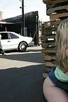 Slutty MILF Sunny Lane gets fucked hardcore outdoor in public