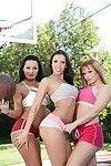Hot MILFs Sandra Romain, Rachel Starr and Katja Kassin show hot butts
