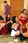 Kinky fetish gals with sexy bodies are into wild groupsex at the house party