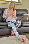 Naughty canadian milf playing all by herself