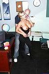 Slutty teacher gets seduced and cocked up from behind in the classroom