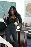 Black MILF teacher Jada Fire revealing smashing assets in class