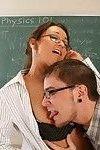 Sexy milf teacher fucks a student after class
