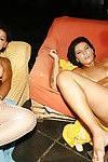 Gorgeous slut and her sister fuck a big cock
